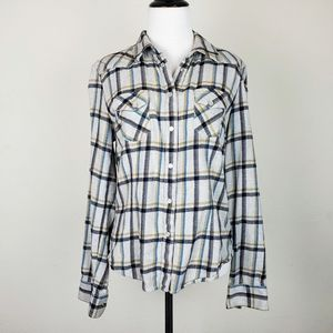 French Connection Plaid Checked Flannel Shirt